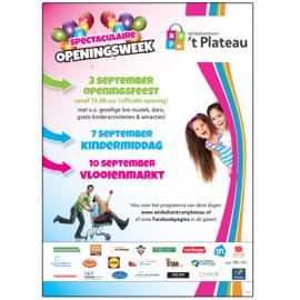 Poster Openingsweek winkelcentrum 't Plateau